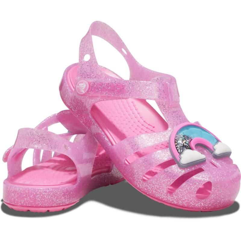 [クロックス公式] サンダル クロックス イザベラ チャーム サンダル キッズ ガールズ、キッズ、子供用、女の子 ピンク 18.5cm Kids' Crocs Isabella Charm Sandal 10%OFF セール アウトレット