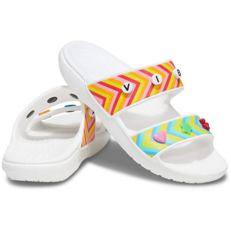 【クロックス公式】 クロックス フェスティバル ヴァイブス サンダル Classic Crocs Festival Vibes Sandal ユニセックス、メンズ、レディース、男女兼用 ホワイト/白 22cm,23cm,24cm,25cm,26cm,27cm,28cm sandal サンダル