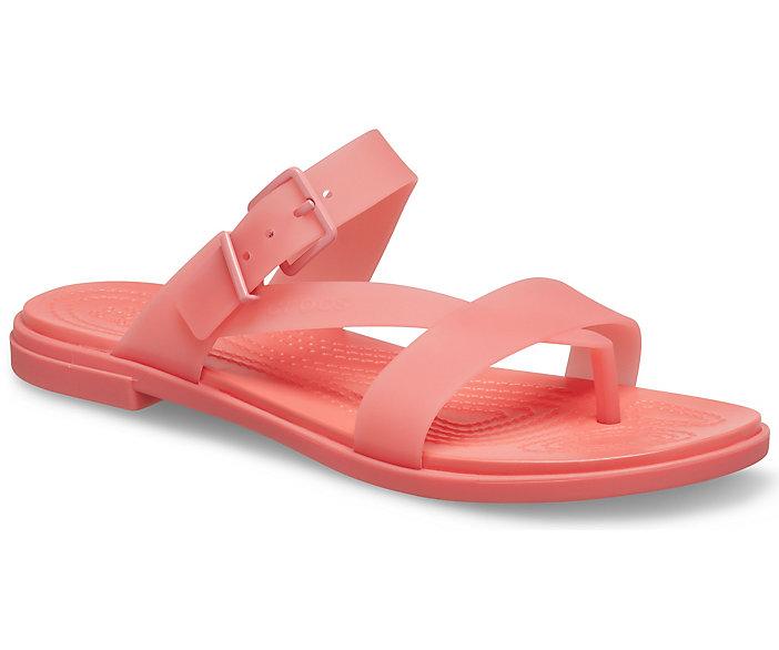 Women's Crocs Tulum Translucent Toe Post