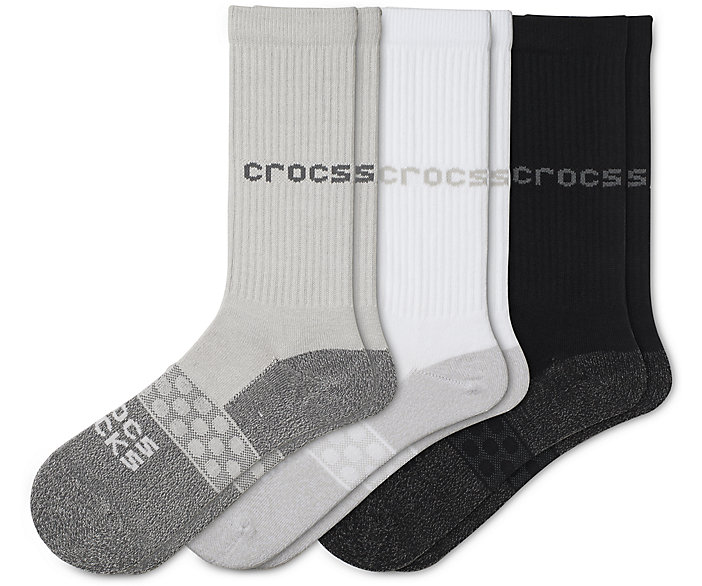 Crocs Socks Adult Crew Solid 3-Pack