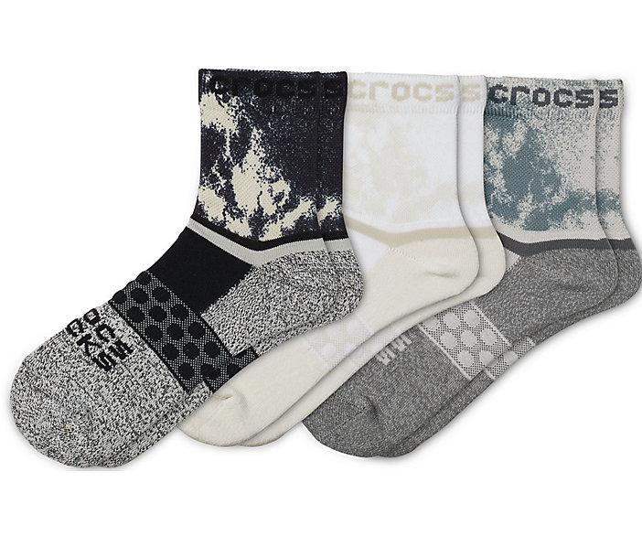 Crocs Socks Adult Quarter Graphic 3-Pack