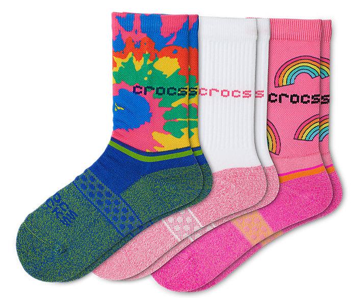 Crocs Socks Kid Crew Evergreen 3-Pack