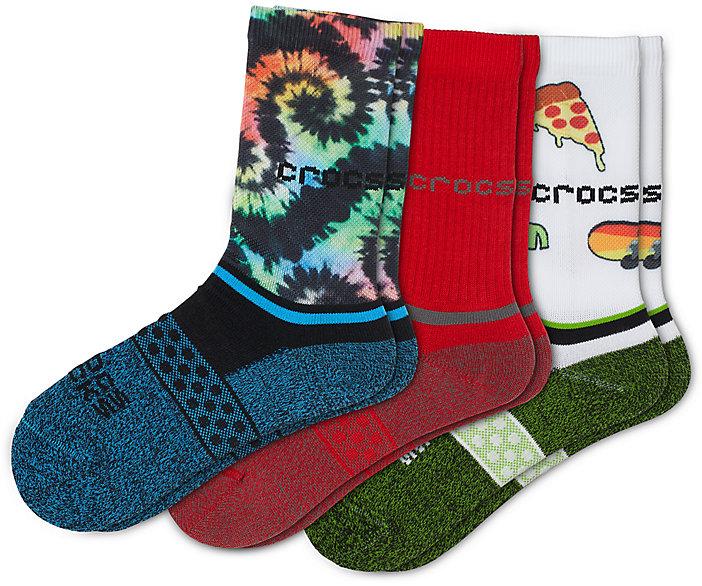 Crocs Socks Kid Crew Seasonal 3-Pack