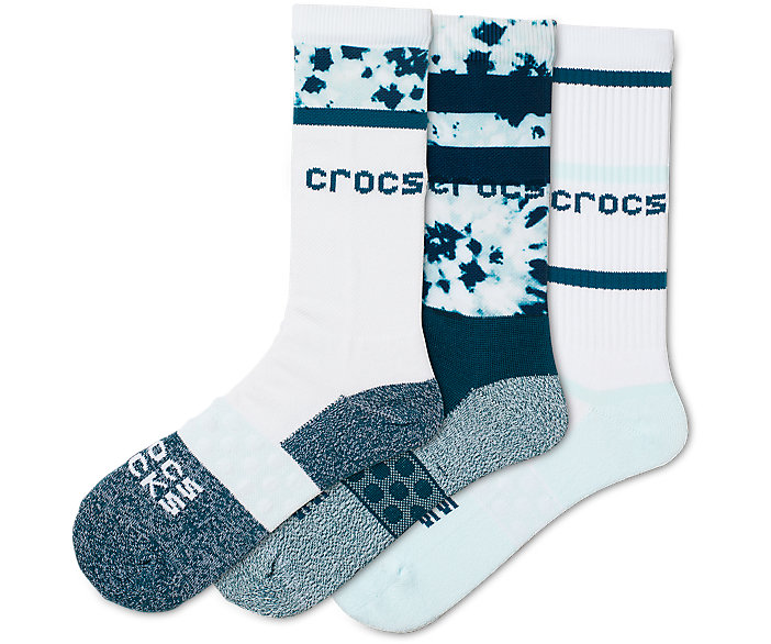 Crocs Socks Adult Crew 3-of-a-Kind