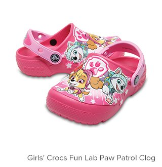 Girls' Crocs Fun Lab Paw Patrol Clogs