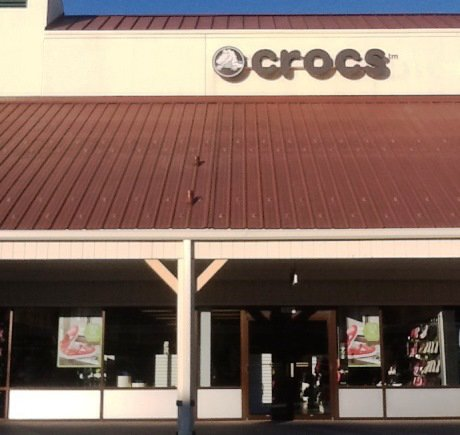 Crocs storefront. Your local Shoe Store in Edinburgh, IN.