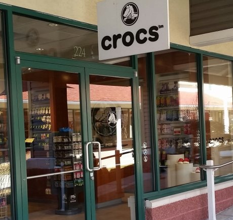 Crocs storefront. Your local Shoe Store in Clinton, CT.