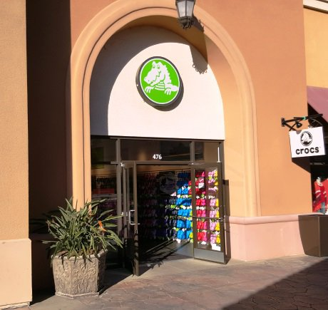 Crocs storefront. Your local Shoe Store in San Diego, CA.