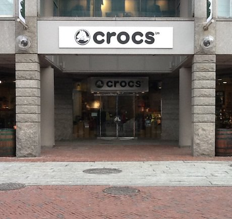 Crocs storefront. Your local Shoe Store in Boston, MA.