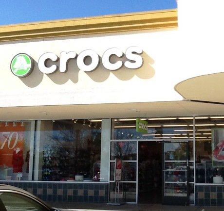 Crocs storefront. Your local Shoe Store in Gilroy, CA.