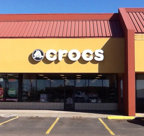 Crocs storefront. Your local Shoe Store in Brownsville, TX.