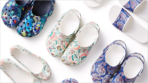 Vera Bradley Graphic Clog Collection.