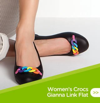 Women's Crocs Gianna Link Flat