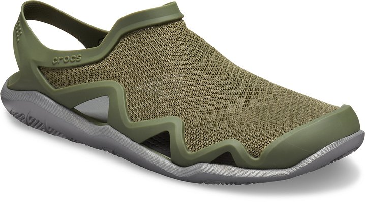 Army Green / Slate Grey Crocs Men's Swiftwater™ Mesh Wave.  Available in size M7