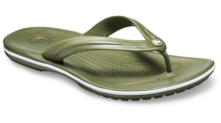 Crocs Crocband™ TeenSlippers Unisex Army Green-White 36