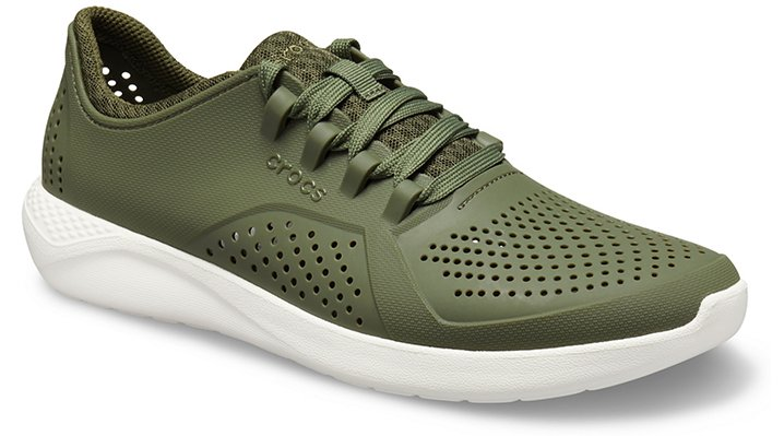 Crocs LiteRide™ Pacer Sneakers Herren Army Green-White 39