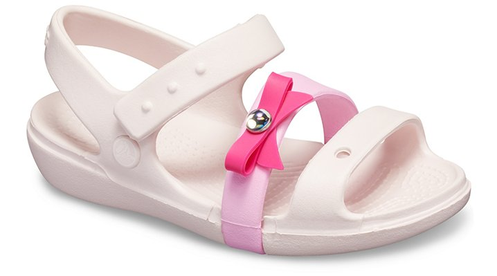 Crocs Keeley Charm Sandalen Kinder Barely Pink 24