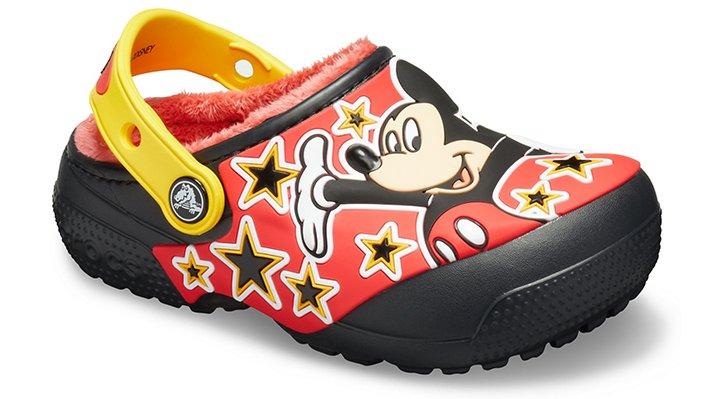 Crocs Black Kids' Crocs Fun Lab Disney Mickey Mouse Lined Clog