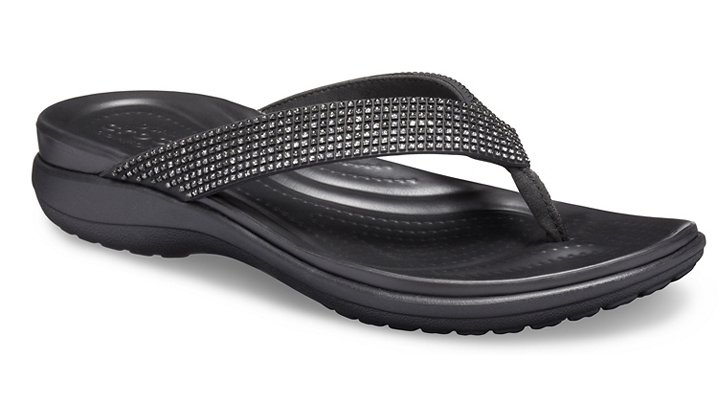 Crocs Capri V Diamante TeenSlippers Damen Black Ombre-Black 38