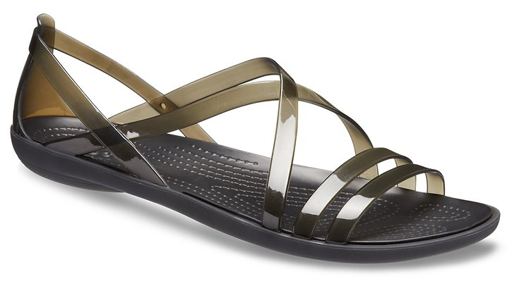 Black Crocs Women's Crocs Isabella Strappy Sandal.  Available in size W4