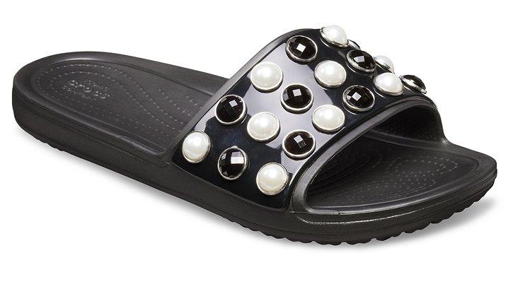 Women's Crocs Sloane Timeless Clash Pearls Slide | Tuggl