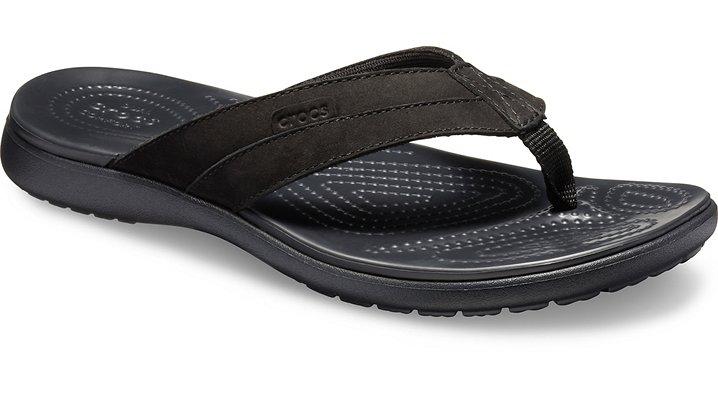 076da40b0d4b Men s Santa Cruz Leather Flip - Crocs