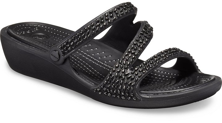 Crocs Patricia Diamante Wedges Damen Black-Black 36