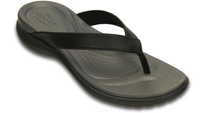 Crocs Capri V TeenSlippers Damen Black-Graphite 34