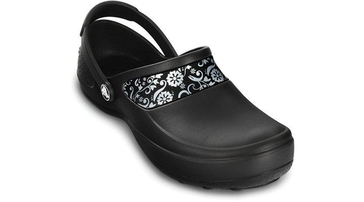 Crocs Mercy Work Klompen Damen Black-Silver 34