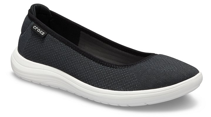 Crocs Reviva™ Ballerinas Damen Black-White 34
