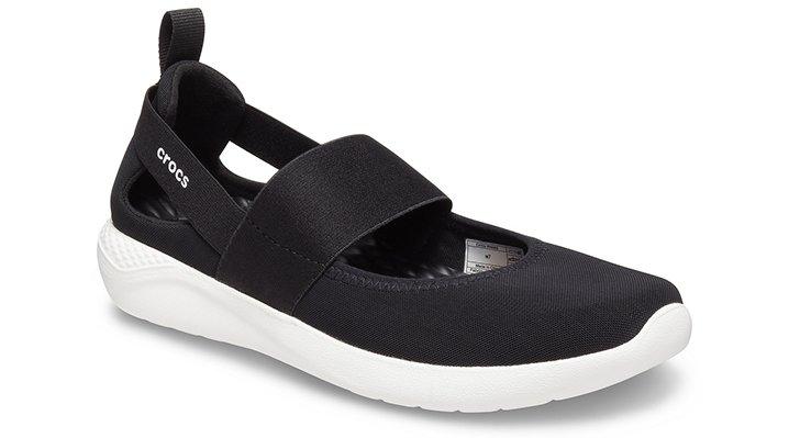 Crocs LiteRide™ Mary Jane Schoenen Damen Black-White 36