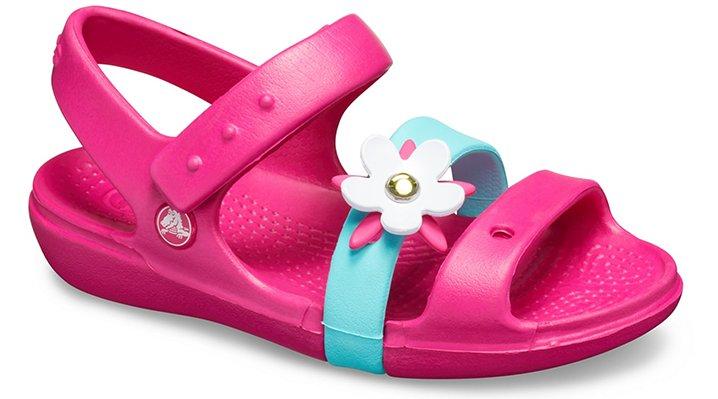 Crocs Keeley Charm Sandalen Kinder Candy Pink 22