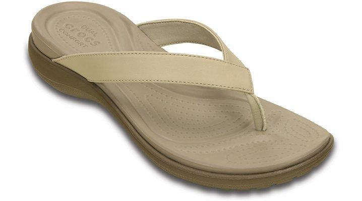 Crocs Capri V TeenSlippers Damen Chai-Walnut 34