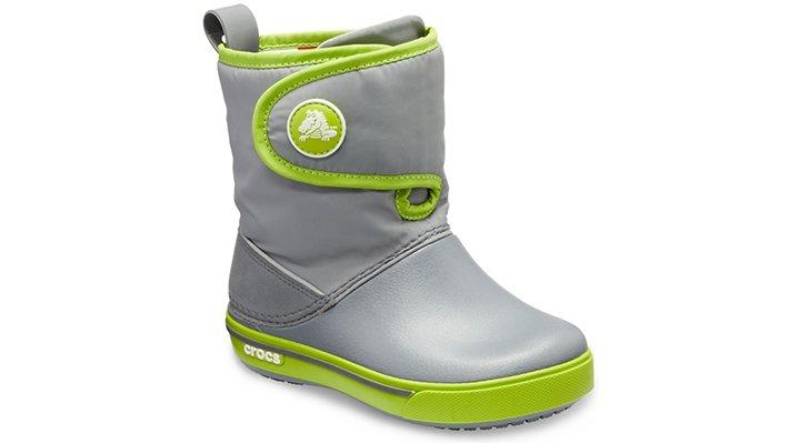 Crocs Crocband™ II.5 Gust Boot Laarzen Kinder Charcoal-Volt Green 22