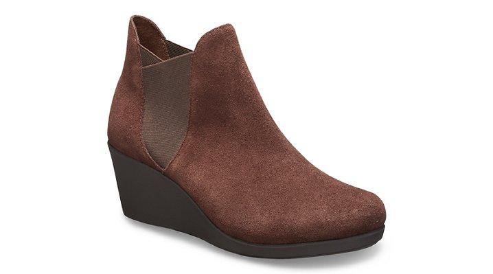 Crocs Leigh Chelsea Boot Laarzen Damen Espresso 36