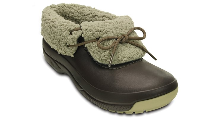 Espresso / Clay Crocs Blitzen Luxe Convertible Clog.  Available in size W6/M4