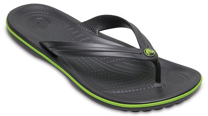 Crocs Crocband™ TeenSlippers Unisex Graphite-Volt Green 36