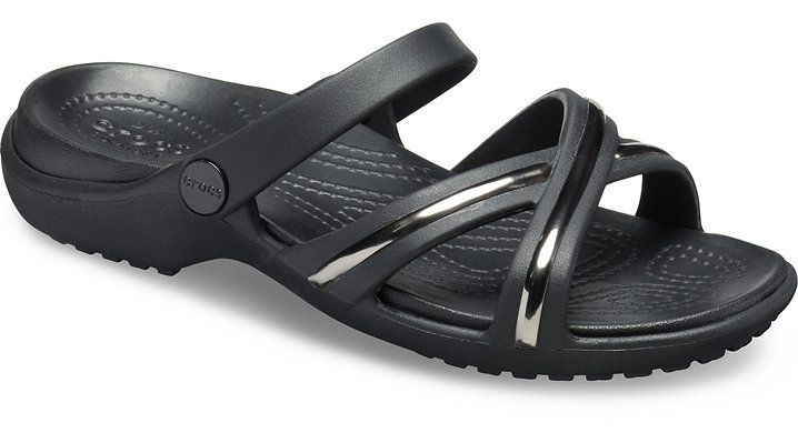 4149b22a7937 Women s Meleen Metal-Block Cross-Band Sandal - Crocs