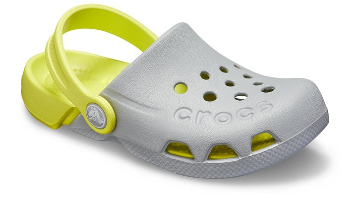 Crocs Electro Klompen Kinder Light Grey-Citrus 19