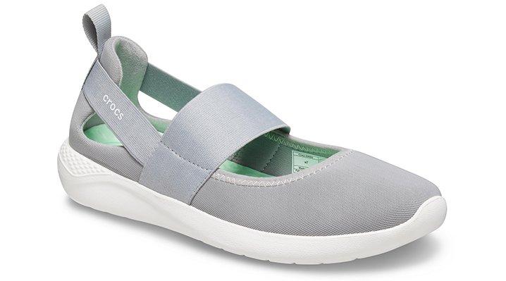 Crocs LiteRide™ Mary Jane Schoenen Damen Light Grey-White 36