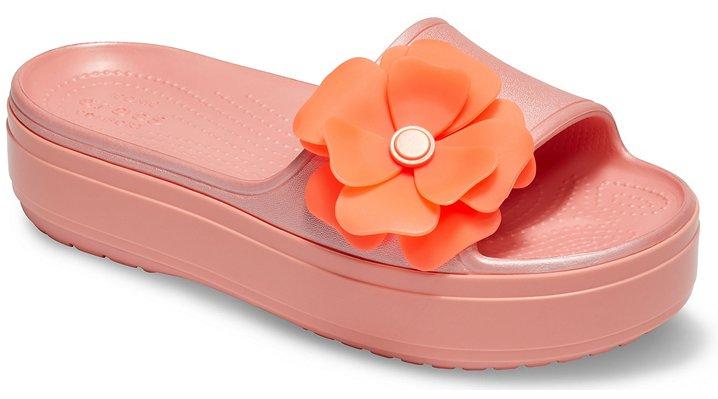 slide-sandals Slide Sandals Crocband™ Platform Vivid Blooms Slide