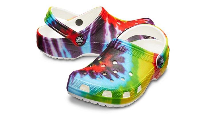 25fdd7a1eaef Classic Tie-Dye Graphic Clog - Crocs