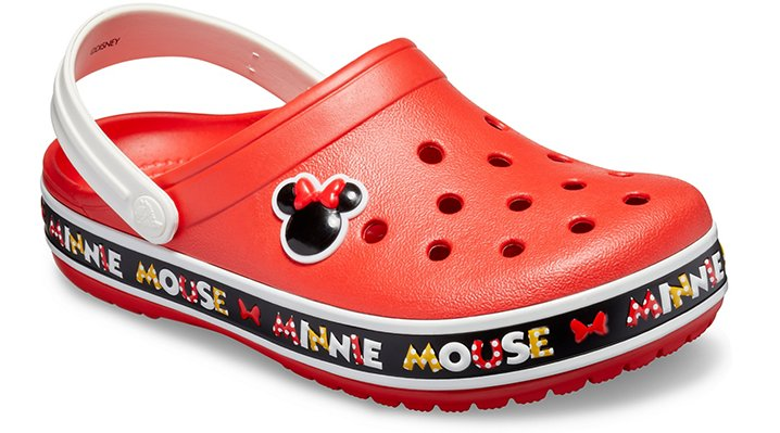 Comfort Puts A Smile On Your FaceAll mice on deck! The most iconic polka dots of all time return in this newly inspired Crocband™ Clog featuring new Minnie Mouse graphics and all the comfort a Minnie fan could ask for. Perfect for your next Disney vacation, special occasion, family get-together or anywhere polka dots and smiles are welcome.  Crocband™ Disney Minnie Mouse III Clog Details:    Built on the sporty Crocband™ silhouette  Incredibly light and fun to wear  Pivoting heel straps for a more secure fit  Easy to clean  Customizable with Jibbitz™ charms  Iconic Crocs Comfort™: Lightweight. Flexible. 360-degree comfort.    © Disney