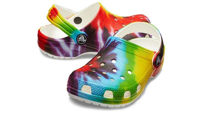 73a803b7225e Kids  Classic Tie-Dye Graphic Clog - Crocs