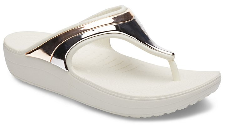 7666df18eb23 Women s Crocs Sloane MetalBlock Wedge Flip - Crocs