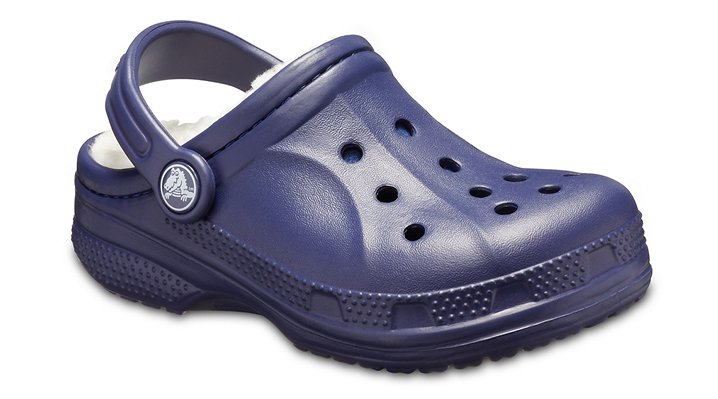 Warm Liner Classic Clog With Comfy Crocs Kids Classic Fuzz Lined Clog Navy