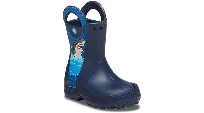 Crocs Fun Lab Shark Patch Rain Boot Laarzen Kinder Navy 22