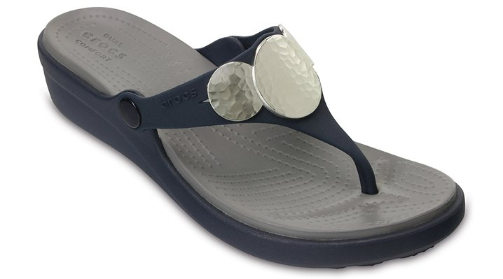 23fc62fae1f10b Women s Sanrah Embellished Wedge Flip - Crocs