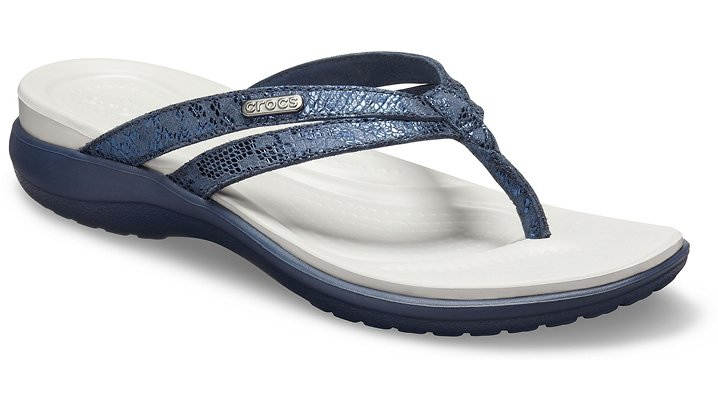 Crocs Capri Strappy TeenSlippers Damen Navy-Navy 38