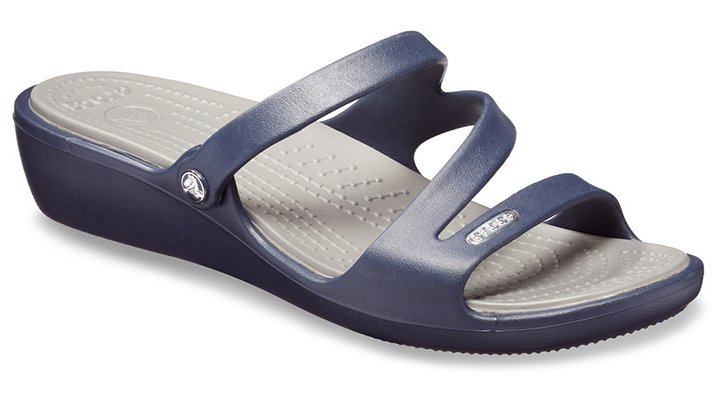 Crocs Patricia Wedges Damen Navy-Smoke 34